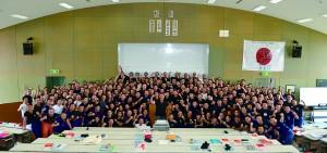 現在消防體育の講師として指導中の神奈川県消防学校第209期初任教育の教え子とともに
