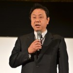 開会の挨拶をする野田塾の小川英範塾長