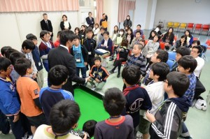 10月20日に小学5・6年生を対象に行われたGE体験教室