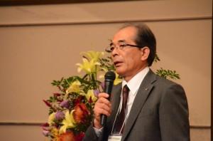 「仙台宣言」をする北海道東北支部の大沼信雄支部長