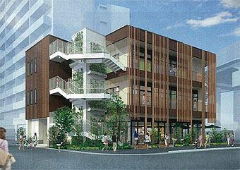 『ナナカラ』が入居予定の新築ビル。流山おおたかの森駅徒歩一分の好立地だ。