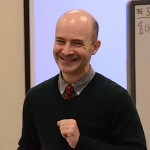 オールイングリッシュの模擬授業を披露したブライアン・ショウ氏