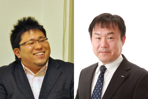 左から同立有志会グループ 中村尊裕代表 アーテック株式会社 藤原 悦代表取締役社長