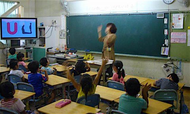 大阪府内の小学校でのモジュール活動の様子