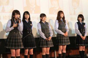 プレゼンテーションをする乃木坂46のメンバー