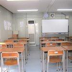 仮設教室の内部